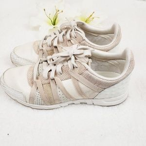 Adidas sneakers, size 8.5, multiple texture.